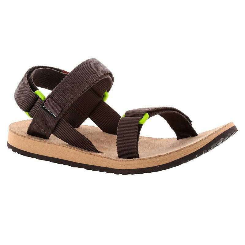 f4bf38255e7a Sandals SOURCE Urban Men s Leather Brown  Green - gamisport.eu