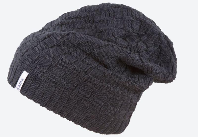 b1910f91e1011 Knitted Merino cap Kama A123 110 black - gamisport.eu