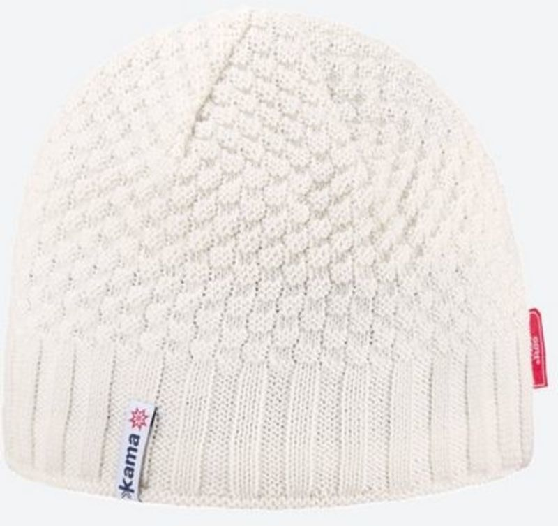 f8b1415fce141 Knitted Merino cap Kama AW63 101 naturally white - gamisport.eu
