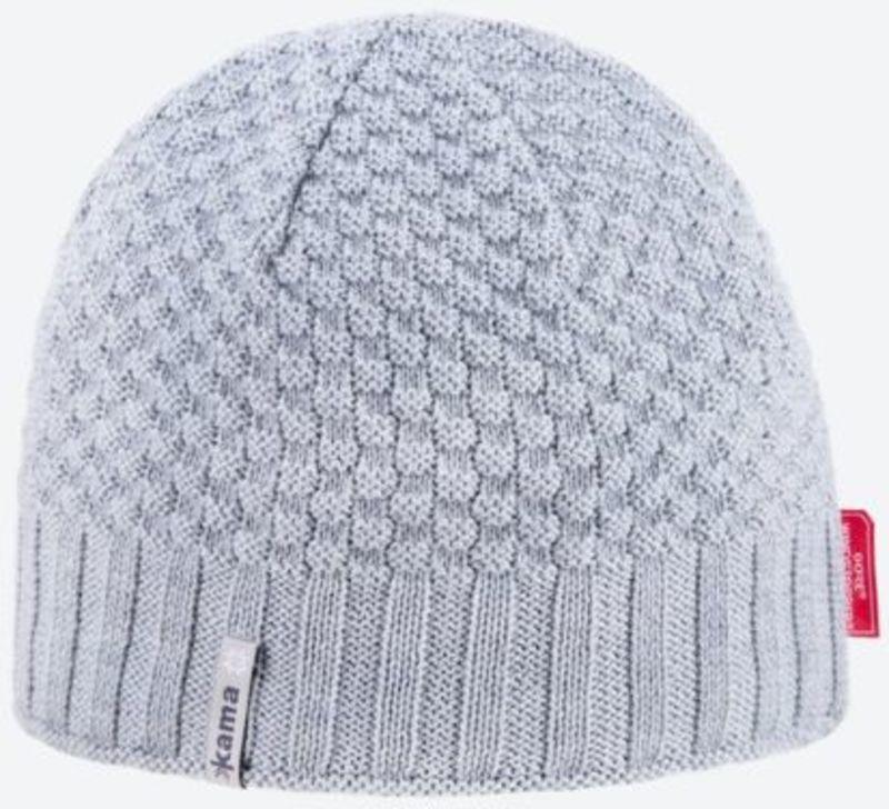 2f532998ceb35 Knitted Merino cap Kama AW63 109 light grey - gamisport.eu