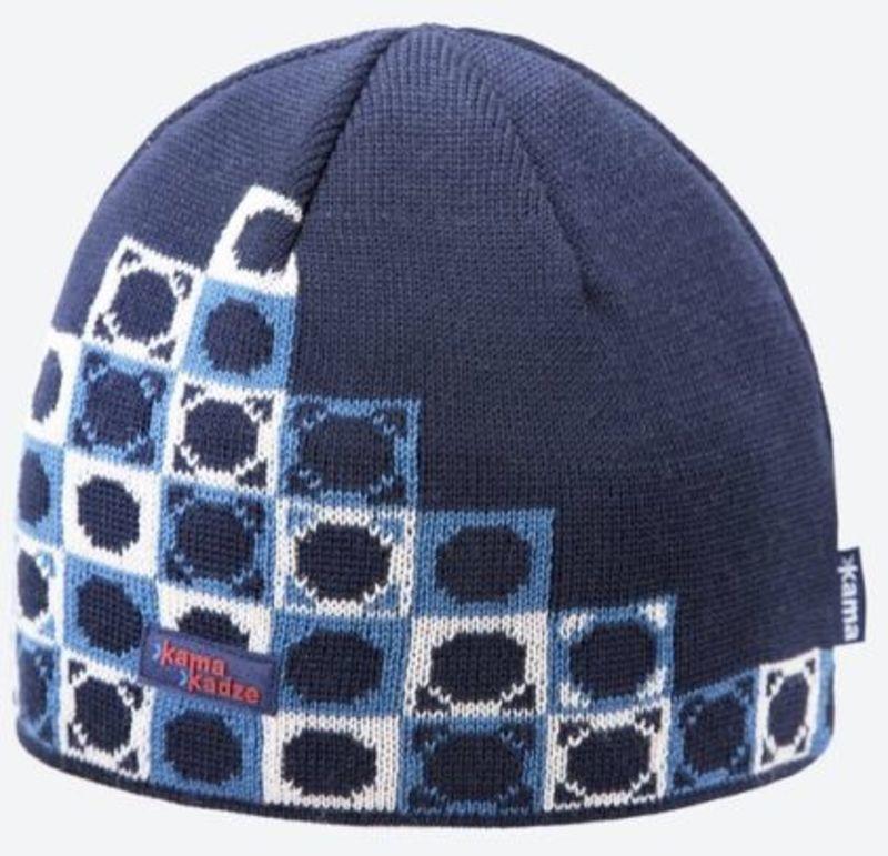 d47e9f8ff322f Knitted Merino cap Kama K57 108 dark blue - gamisport.eu