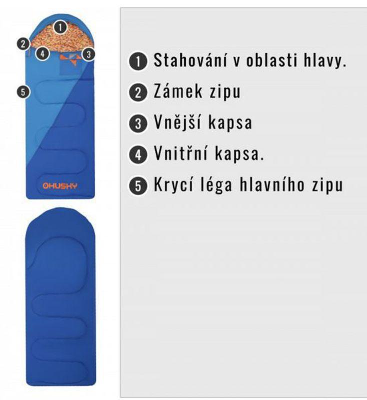 956c59d3ea Sleeping bag Husky Kids Milen -5°C blue. Sleeping bag Husky Kids Milen ...