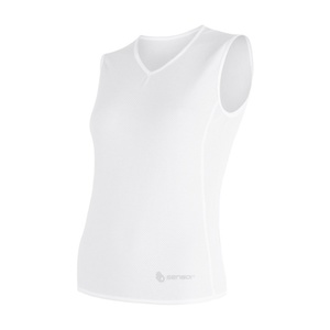 Women scampolo Sensor Coolmax Fresh Air V-neck white 17100019, Sensor