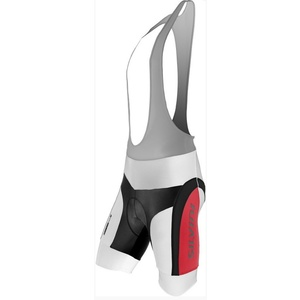 Men cycling pants Silvini Merry MP605 white-red, Silvini