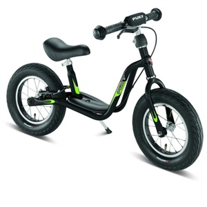 Push bike with brake PUKY Learner Bike LR L black / kiwi 4050, Puky
