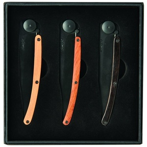 Deejo set 3 knives Wood Black 37G DEE041, Deejo