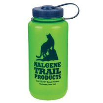 Bottle Nalgene Wide Mouth 2179-1032 green cat logo, Nalgene